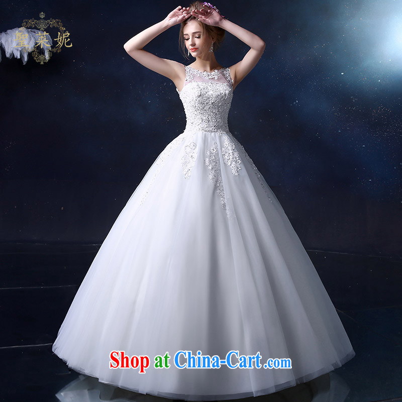 Holy, Connie wedding dresses brides with wedding dresses 2015 spring and summer new, larger imports chest bare a shoulder lace wedding double-shoulder dress white M, holy, Connie (Sheng lai Ni), online shopping