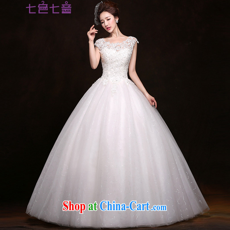 7 color 7 tone 2015 wedding dresses new summer pregnant wedding bride Korean layout the code with a field shoulder wedding H 057 white tailored (final)