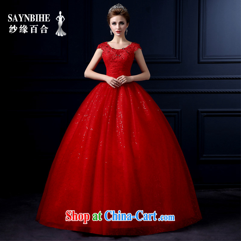 Yarn edge 100, wedding dresses 2015 new spring and summer sweet lace with wedding beauty graphics thin bridal red marriage shaggy dress the code tied with trailing wedding red tailor advanced customization