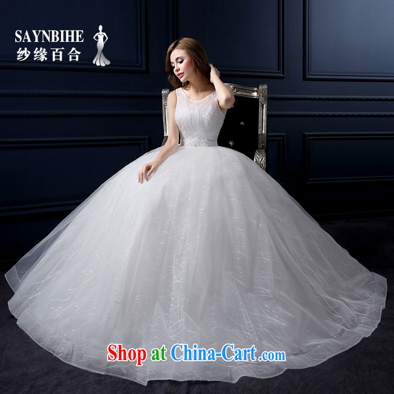 Yarn edge 100 and 2015 new wedding dresses lace graphics thin the Field shoulder wedding tail Korean shoulders with Wedding Video thin the Field shoulder the code bridal shaggy dress white tailor advanced customization