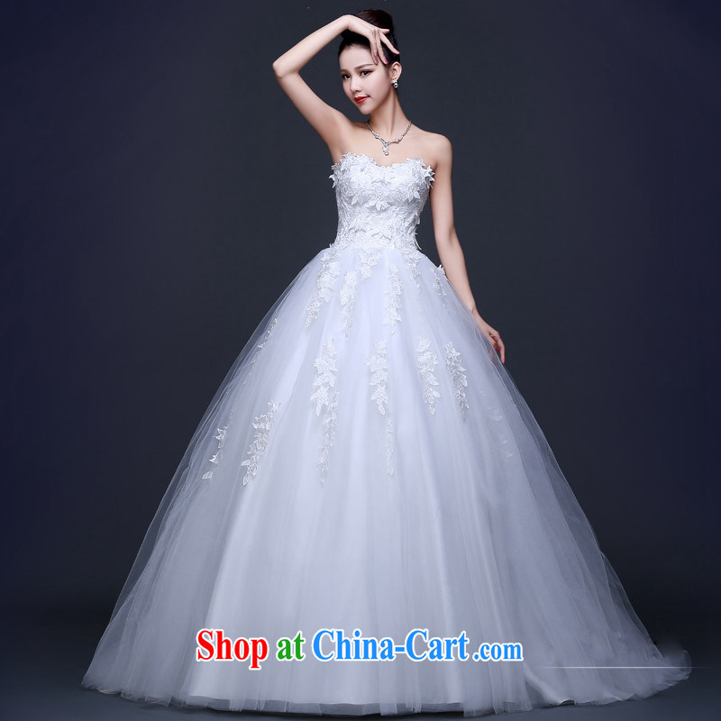 Pure bamboo wedding dresses new 2015 red white long-tail marriage bridal lace bare chest wedding beauty spring and summer white XXXL