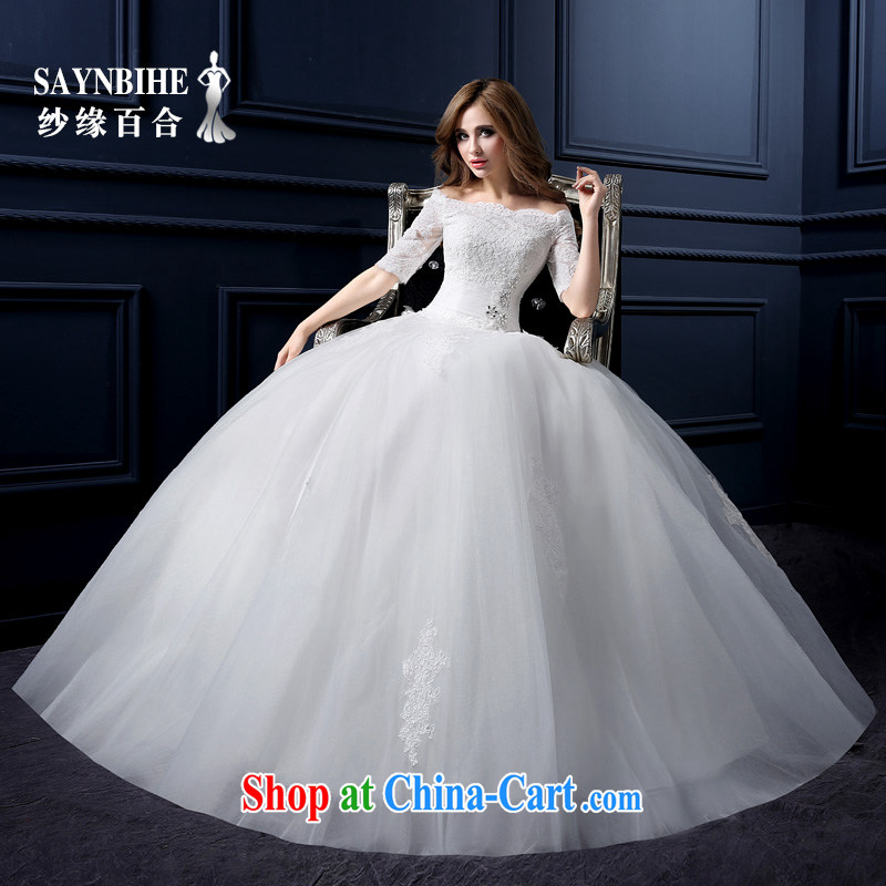 Yarn edge 100, wedding dresses new 2015 summer edition won the field shoulder wedding video thin lace with wedding bridal marriage is the wedding pregnant women custom shaggy dress white tailor advanced customization