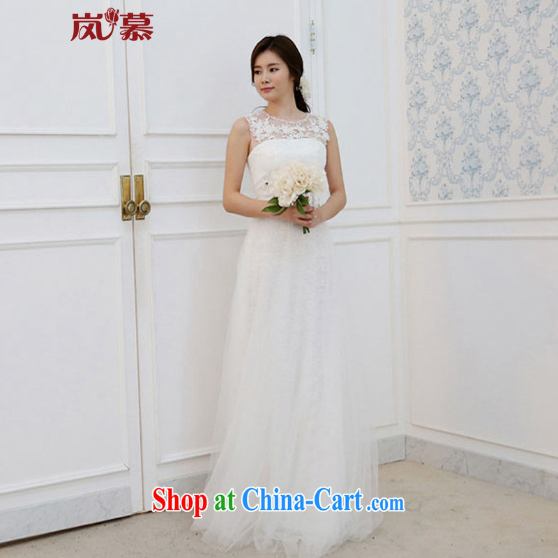 Would the new 2015 original design a Field shoulder cultivating soft Web lace with style bridal wedding white XL (chest 95/waist 79)