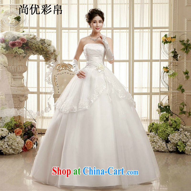 There are optimized color Kingfisher wedding dresses new summer bride married Korean pregnant women wiped his chest, wedding video thin large code XS 1002 photo color XXL