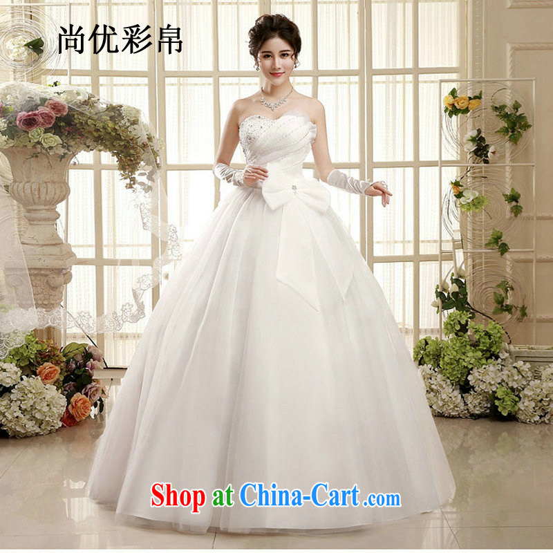 There are optimized color Kingfisher wedding dresses spring new Korean version wiped chest marriages with Princess minimalist straps, wedding XS 1003 photo color XXL