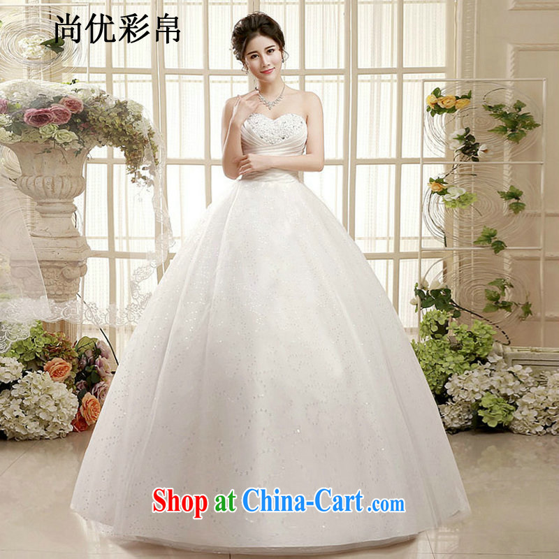 There are optimized color Kingfisher Korean version 2015 new erase chest graphics thin wedding dresses wiped his chest and tied with stylish graphics thin minimalist XS 1004 photo color XXL