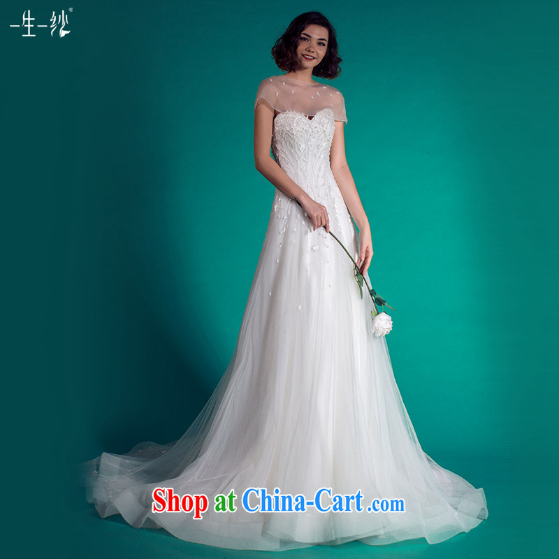 A yarn wedding dresses 2015 summer tail erase chest tail wedding removable Cape 401501349 white XXL code 30 days pre-sale