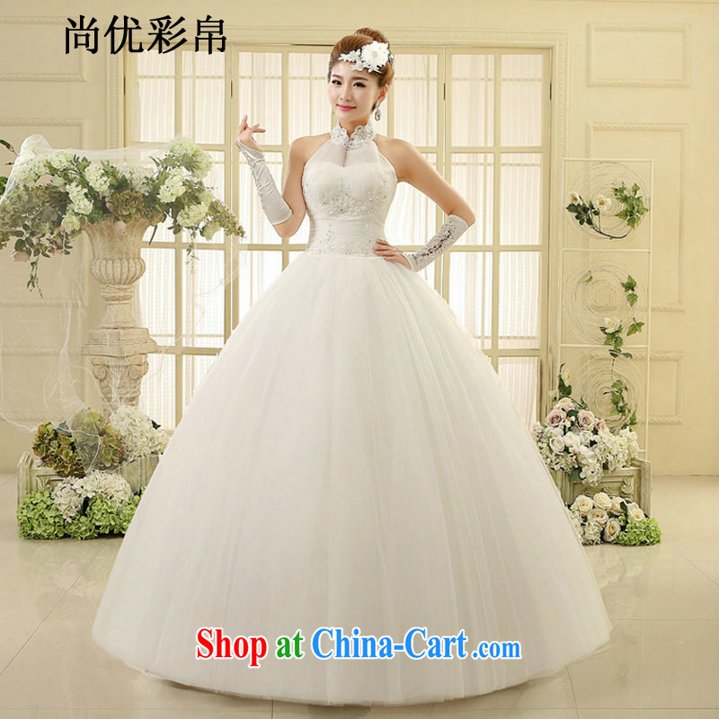 It is also optimized their wedding dresses new spring simple and stylish Korean style with attached also wedding code graphics thin beauty parquet drill summer XS1012M white XXL