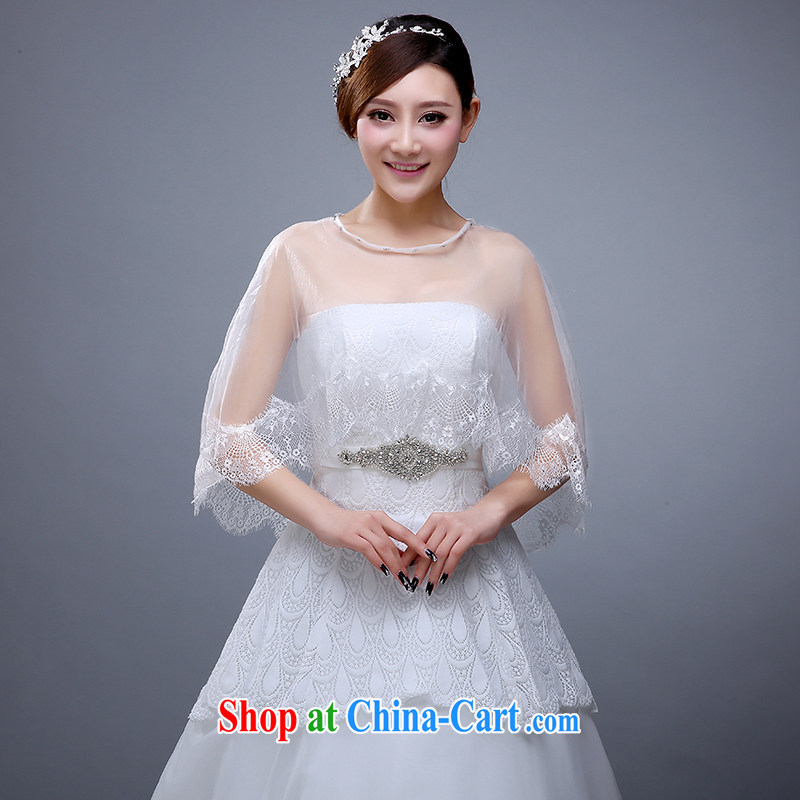 New marriages lace shawl wedding dresses wedding bridesmaid summer white thin ice woven shawl 2015 female white