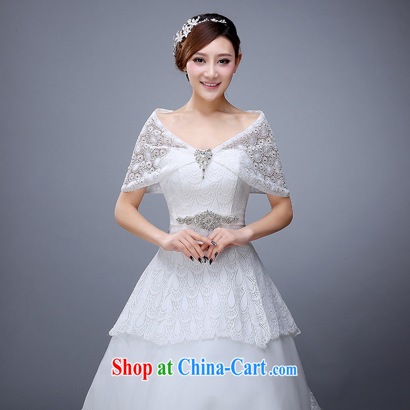 2015 new wedding lace shawl spring lace shawl bridal shawl white wedding lace shawl female white