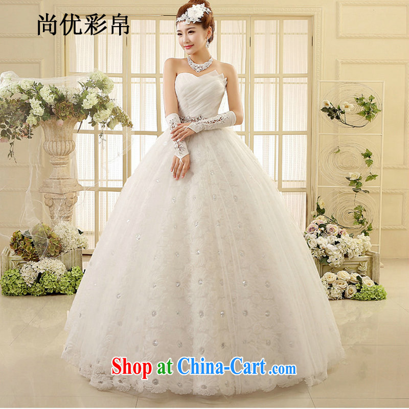 It is also optimized their swords into plowshares and Stylish large code wedding new thick mm video thin smears chest lace skirt is surrounded with wedding XS1015M white XXL