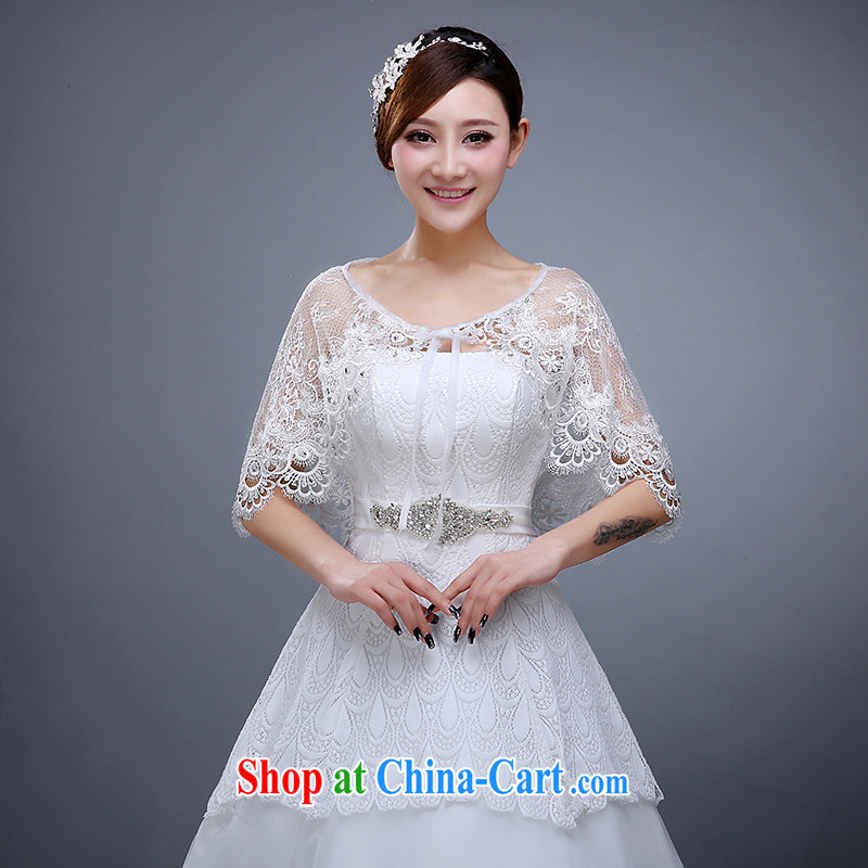 Summer 2015 new wedding lace shawl lace large cloak shawls bridal wedding lace shawl female white