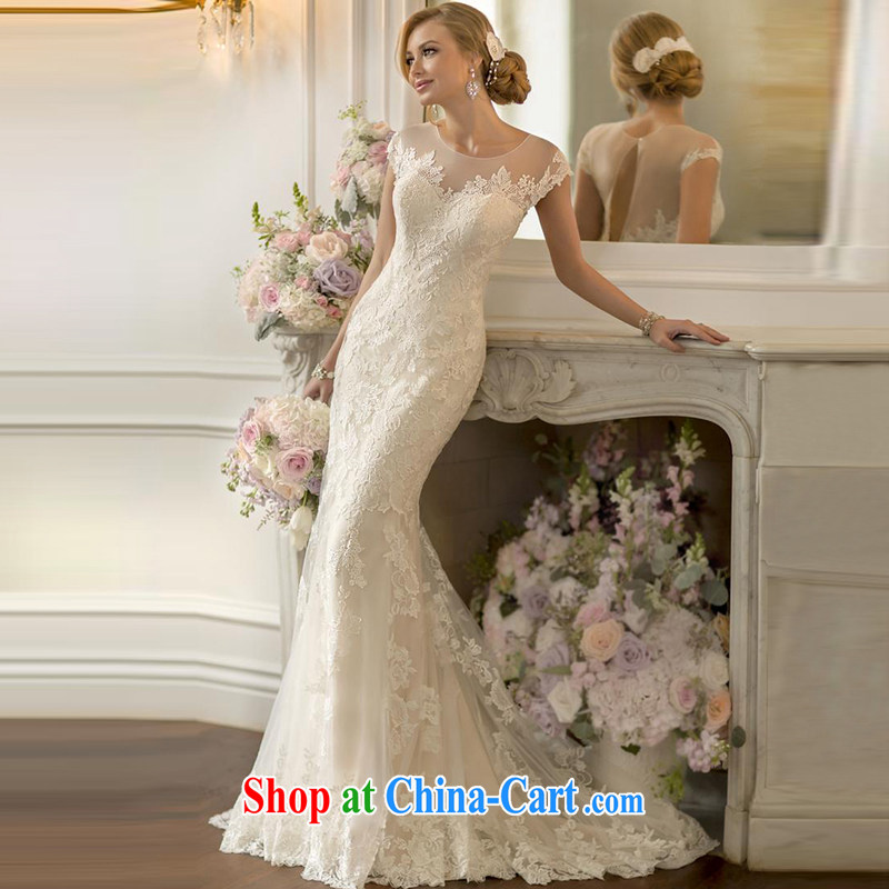 2015 spring and summer new marriage wedding dresses brides in Europe and America graphics thin beauty-tail lace crowsfoot wedding female white to make the $30 does not return
