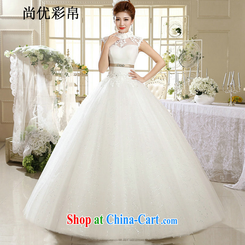 It is also optimized their wedding dresses new summer wedding bride Korean layout retro alignment to hang also Korean version Princess white wedding XS 1018 m White XXL