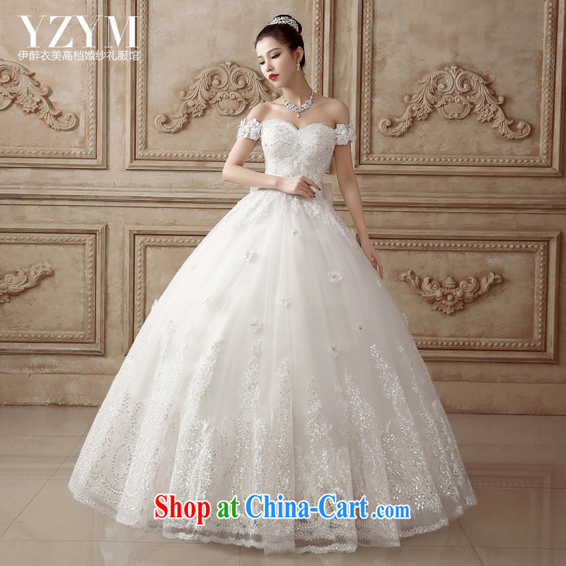 The drunken Yi Mei bridal wedding dresses a shoulder-tail wedding lace drilling 2015 cultivating Korean video thin larger summer wedding luxury with bridal wedding with S