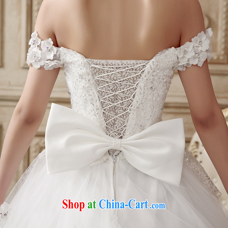The drunken Yi Mei bridal wedding dresses a shoulder-tail wedding lace drilling 2015 cultivating Korean-style graphics thin large code summer wedding luxury with bride's wedding with S, drunk, and the United States, and on-line shopping