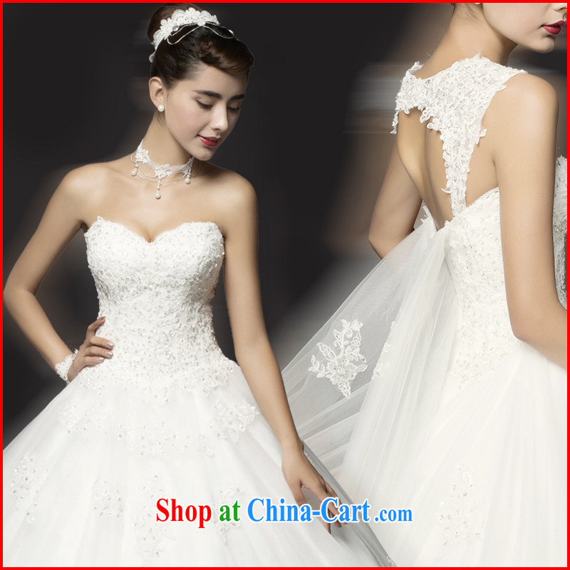 The drunken Yi Mei 2015 new Korean-style wedding dresses-tail diamond shoulders the Marriage Code thick mm video thin wedding summer bridal wedding to remove shoulder strap white customization