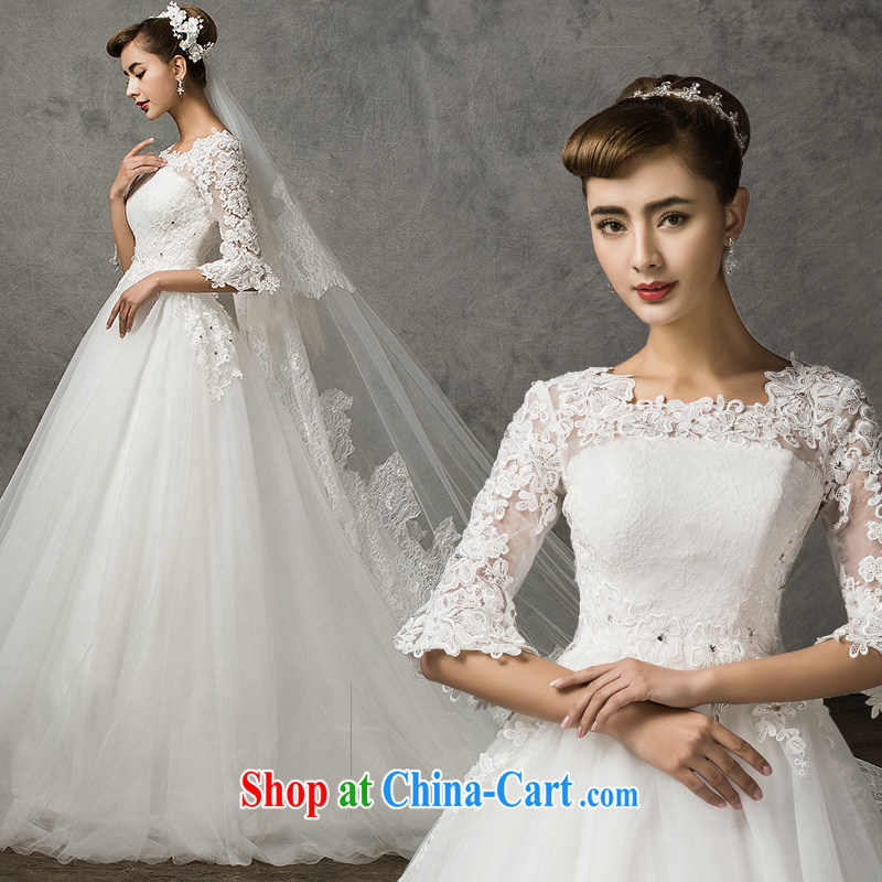 The drunken Yi Mei bridal wedding dresses new 2015 spring and summer cuff in wedding tail retro lace Wedding Video thin stars with wedding bridal wedding dress white customization