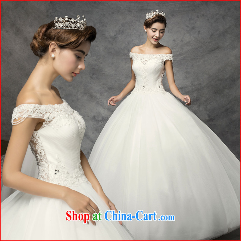The drunken Yi Mei wedding dresses 2015 new stylish married a Field shoulder lace the tail to remove wedding, thick mm video thin bridal wedding sexy Openwork with custom