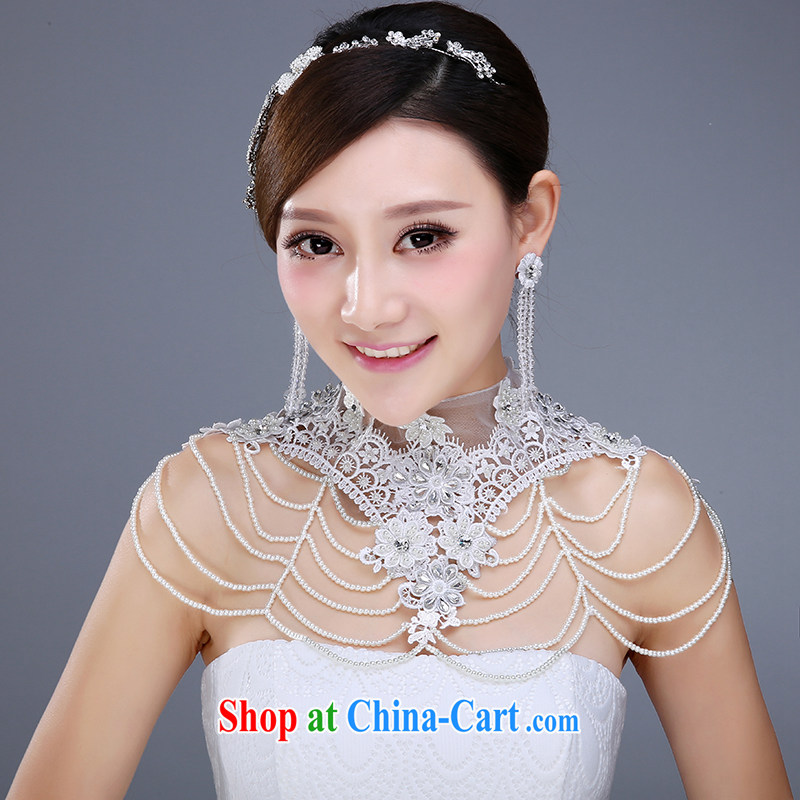 New bridal jewelry 3 piece set with crystal diamond shoulder link hair accessories earrings and jewelry wedding jewelry wedding dresses accessories hair accessories