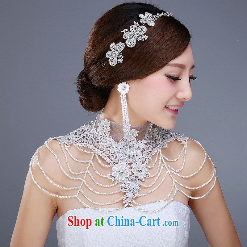 New bridal jewelry 3 piece set with crystal diamond shoulder link hair accessories earrings and jewelry wedding jewelry wedding dresses accessories, jewelry, clothing and love it, and, on-line shopping