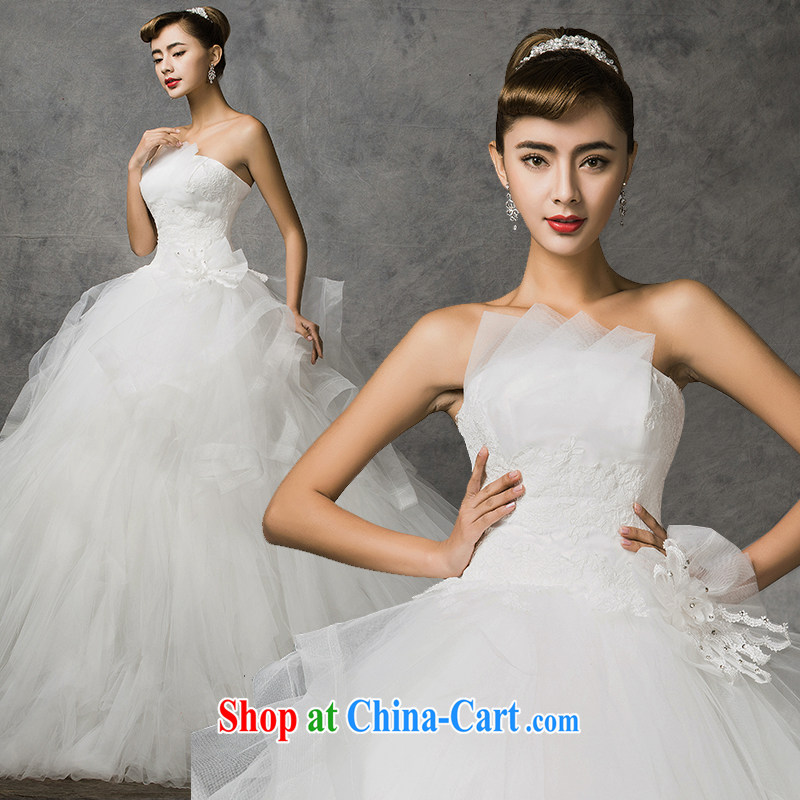 The drunken Yi Mei bridal wedding dresses new 2015 summer wiped his chest-Korean-style lace wedding dresses, Wang Wei pregnant women can pass through the code mm thick wedding white customization