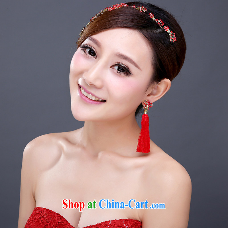 Red bridal head-dress and wedding jewelry HAIR ACCESSORIES wedding Crown dress accessories accessories for Korean-style hair accessories, clothing and love, and, on-line shopping