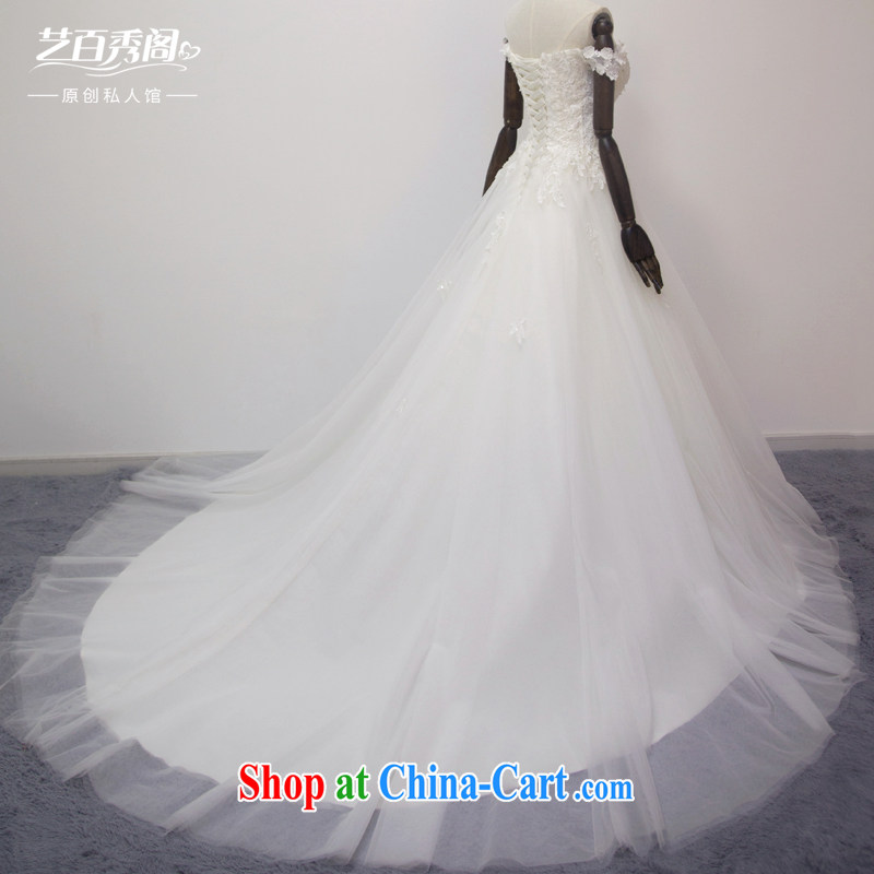 Art 100 Su Ge original design a Field shoulder cultivating short-tail lace bridal suite 2015 New staple-joo Korean brides with wedding white tail custom + 30