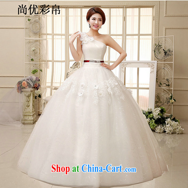 It is also optimized their swords into plowshares Princess wedding dresses new large code erase chest stylish manual flowers lace embroidery tie with XS 1036 M white XXL