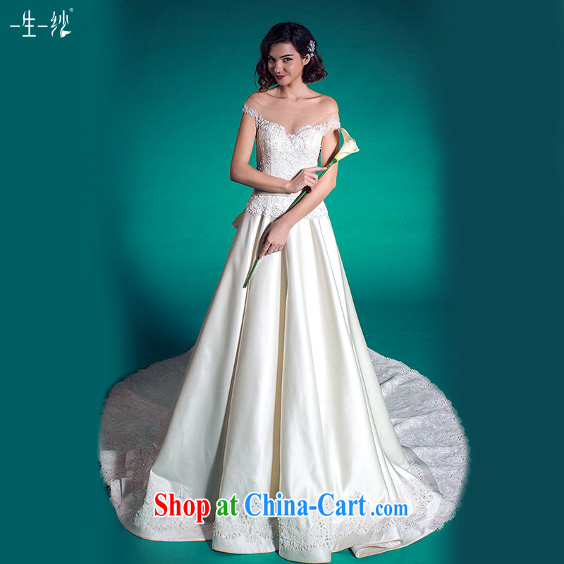 A yarn wedding retro beauty tail wedding summer 2015 simple Princess skirt wedding 401501366 white XXL code 30 days pre-sale