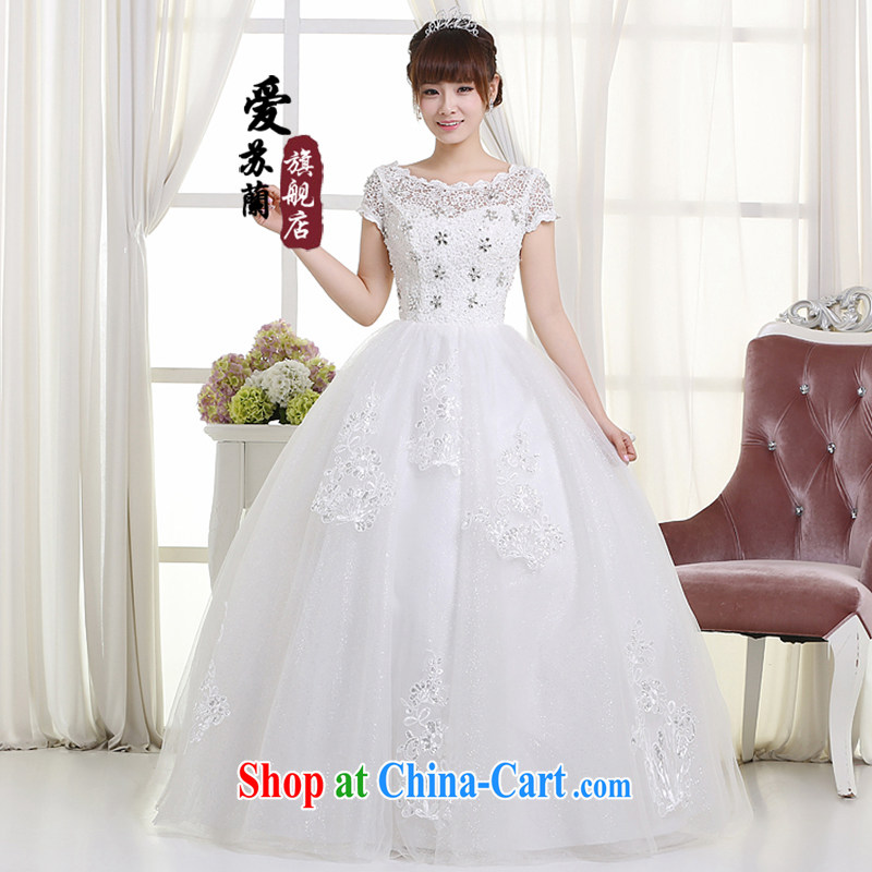 New 2015 Wedding Video thin with wedding dresses retro lace double shoulder straps for V shaggy dress girls summer wedding white. size does not return does not switch