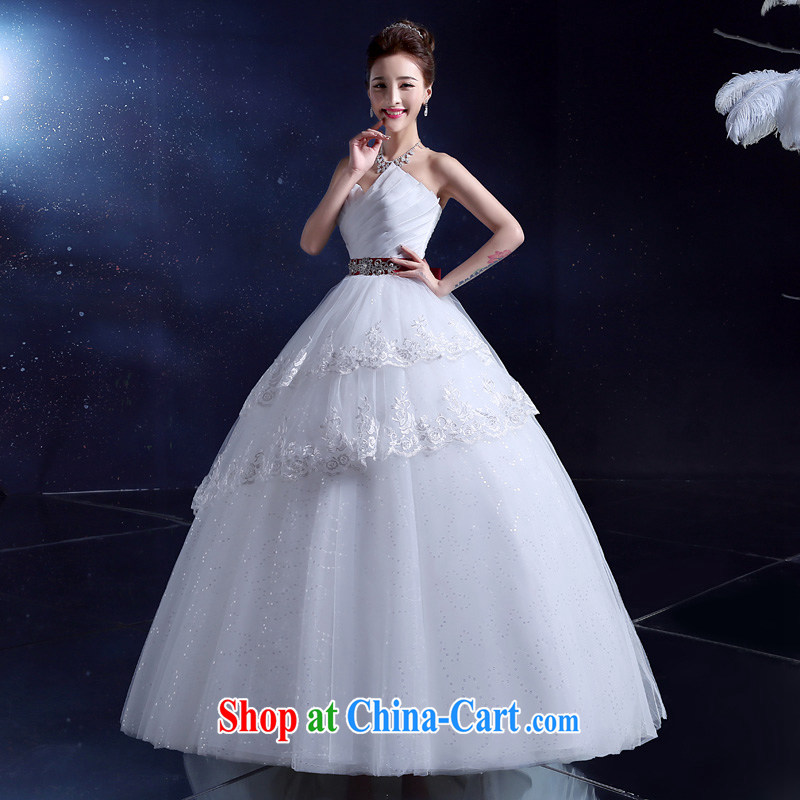 A good service is 2015 new stylish wedding dresses with multi-layer straps bridal Wedding Video thin smears chest spring and summer white XXL