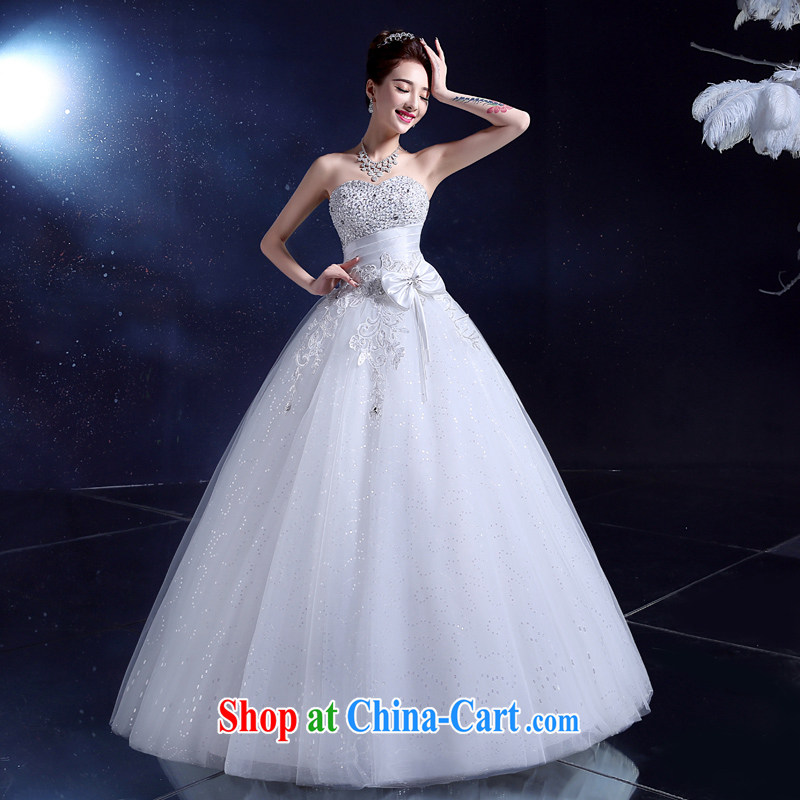 A good service is wedding dresses 2015 erase chest white lace straps new summer marriages beauty with white XXL