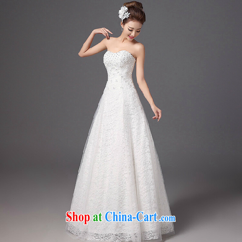 wedding dresses new 2015 spring fashion bridal wiped chest lace with the Code graphics thin Korean-style beauty tied with a white high-end made pro-contact Customer Service MM