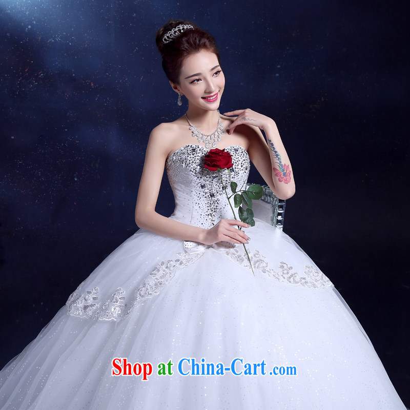 Serving a good solid marriages wiped chest wedding 2015 New with graphics thin lace beauty Korea drill spring and summer female white XXL