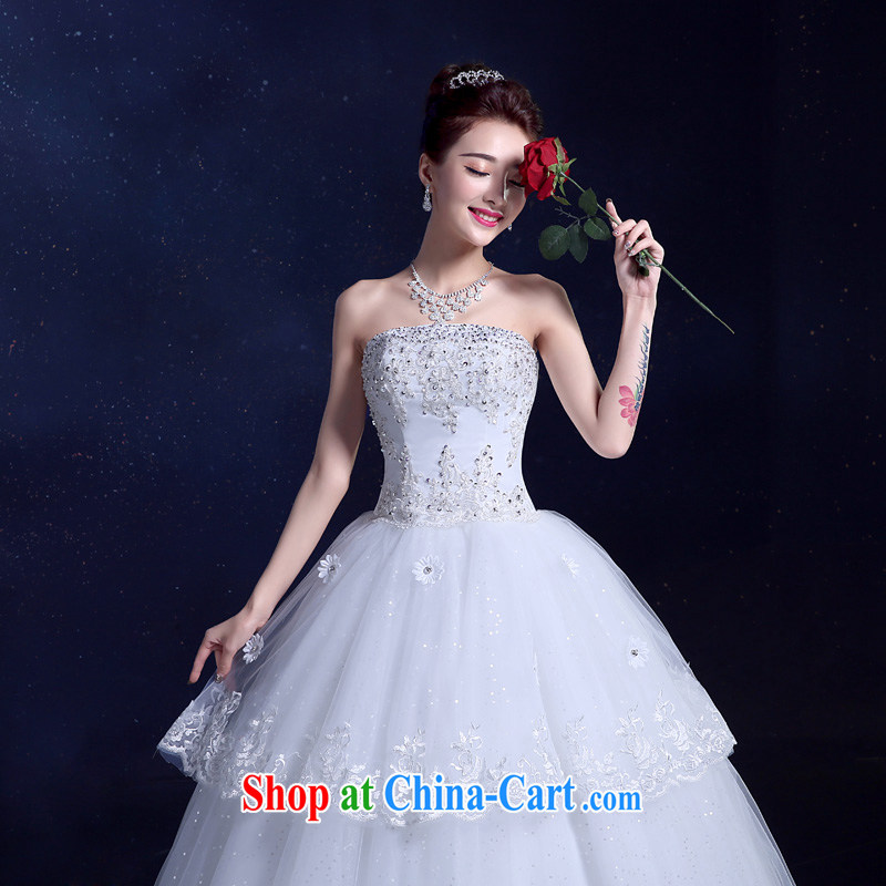 A service is a good wedding dresses 2015 new summer Korean-style fashion beauty graphics thin with his chest bare wood drill with white XXL