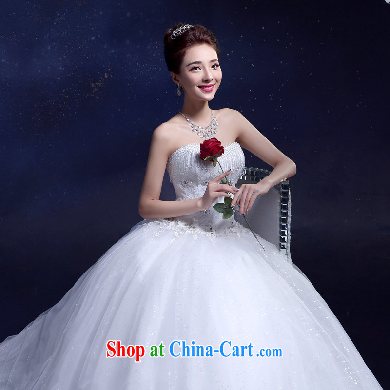 A good service is a Korean-style smears chest wedding summer 2015 new stylish simplicity lace decals graphics thin bridal dresses and white XXL