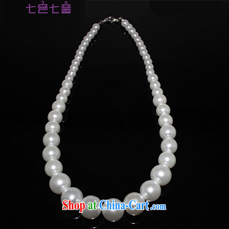7 color 7 tone bridal accessories simple Korean-style pearl necklaces wedding dress wedding dinner jewelry wedding winter with ornaments PS 666 white are code