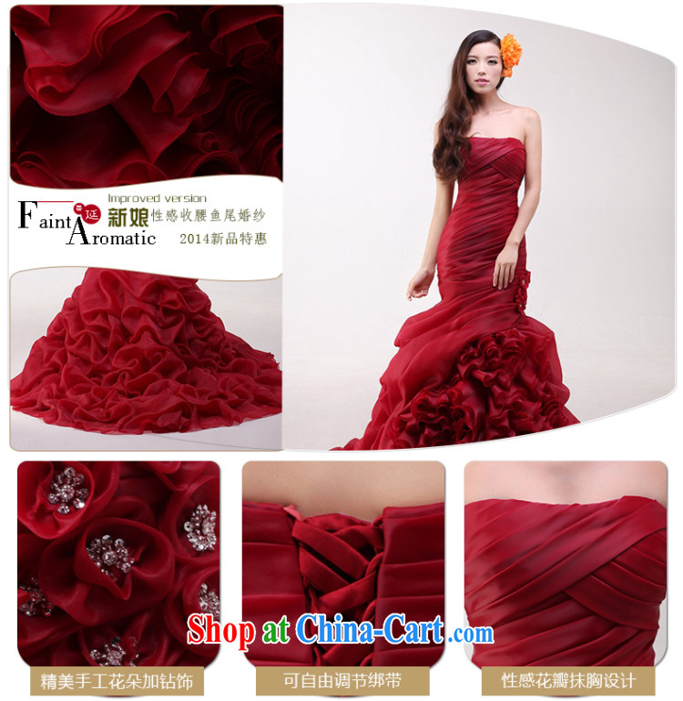 In Luang Prabang in 2015 the new bride's bare chest wedding tie-down Tail-waist graphics thin crowsfoot wedding custom wine red advanced custom pictures, price, brand platters! Elections are good character, the national distribution, so why buy now enjoy more preferential! Health
