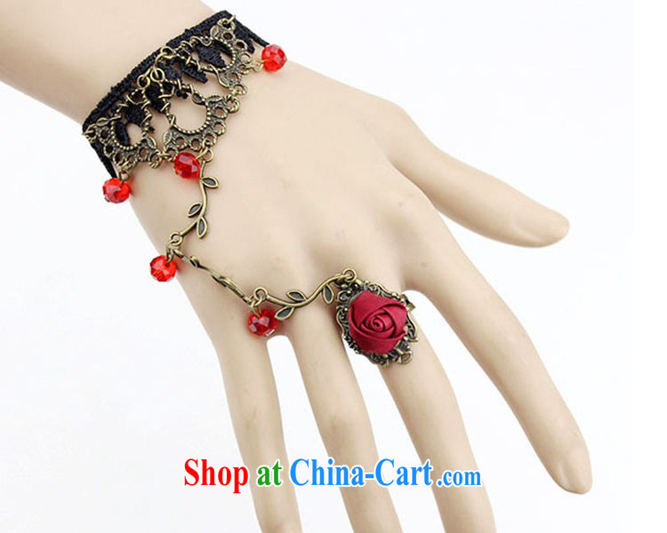 2015 bridal wedding dresses with European-style palace original retro red lace bracelet with rings bridal gothic style jewelry jewelry women to link Black crystal, code pictures, price, brand platters! Elections are good character, the national distribution, so why buy now enjoy more preferential! Health