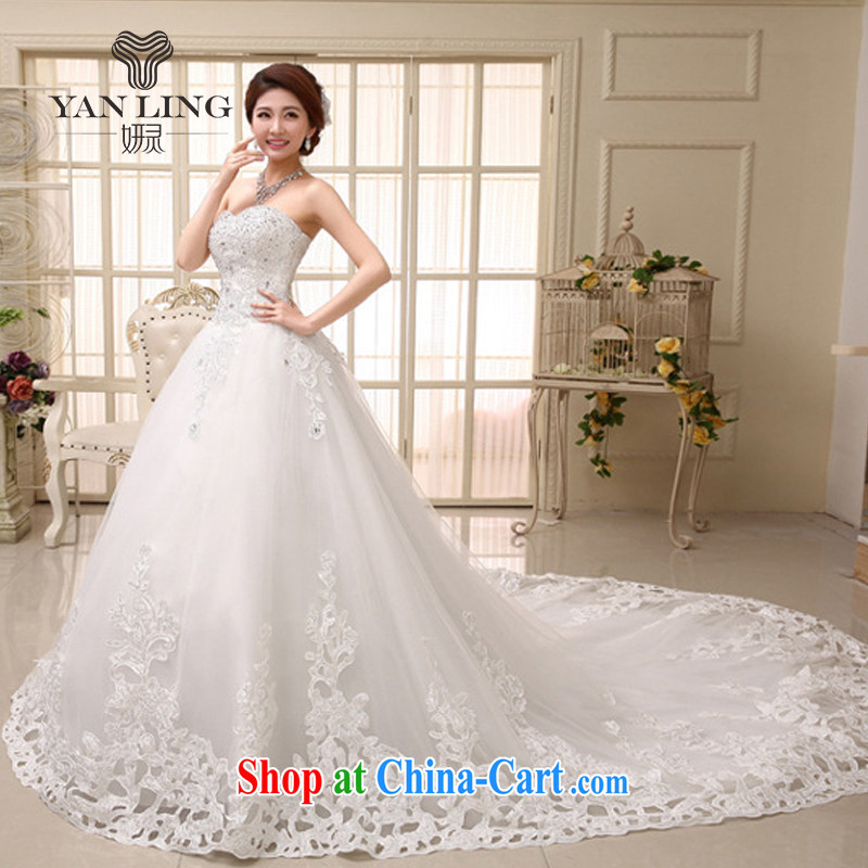 Her spirit 2015 bridal wedding dresses Korean sweet elegant Princess with wedding HS 531 tail M
