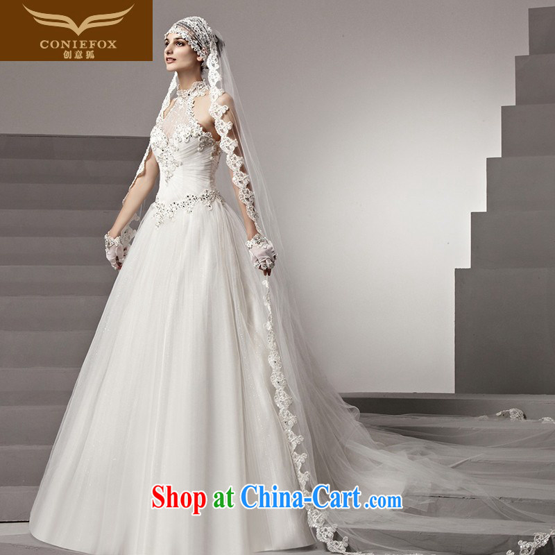 Creative Fox high-end custom wedding dresses 2015 style is also wedding high waist graphics thin white wedding shaggy dragging wedding 90,168 white tailored