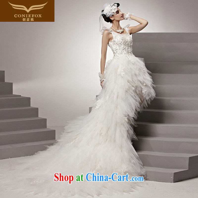Creative Fox high-end custom wedding dresses romantic only American bridal red carpet-tail wedding upscale white wedding photo building photography wedding 90,165 white tailored