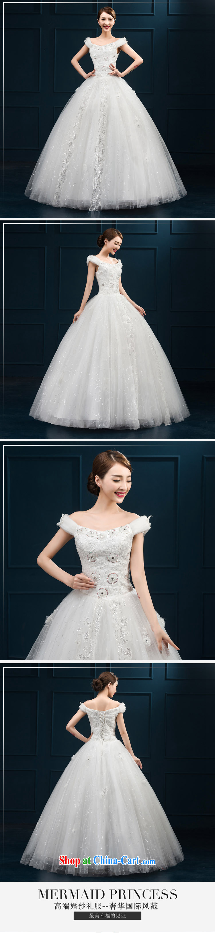 2015 wedding dresses new brides field shoulder lace luxury jewelry Korean version with shaggy yarn white M pictures, price, brand platters! Elections are good character, the national distribution, so why buy now enjoy more preferential! Health