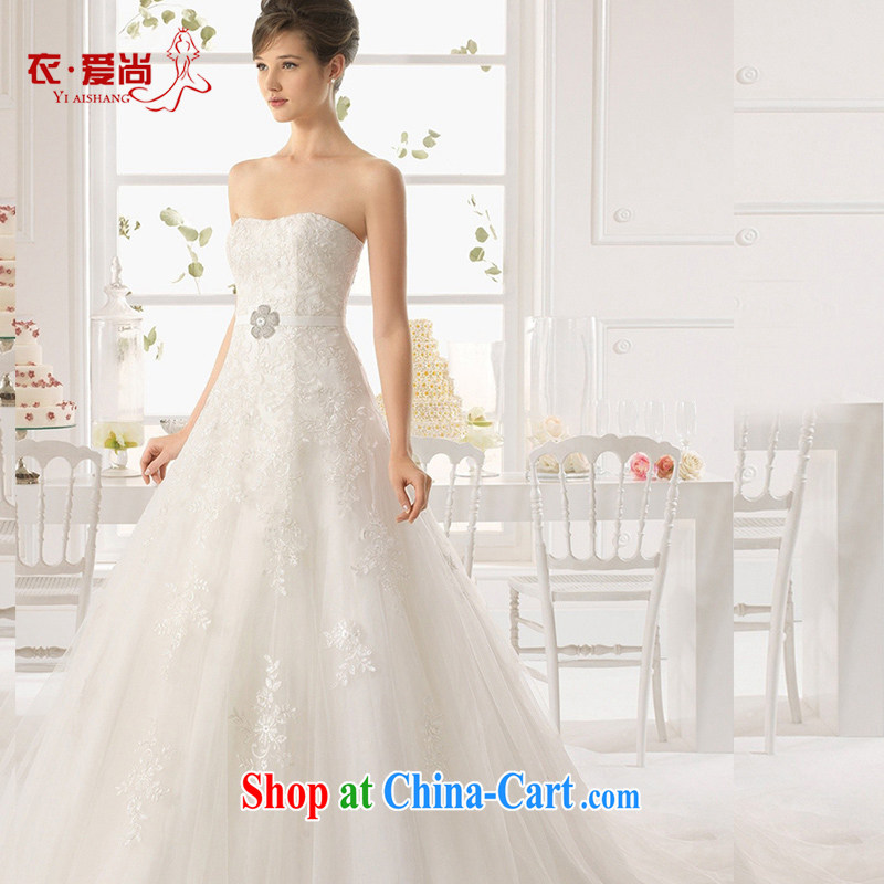 wedding dresses 2015 spring and summer new Korean-style marriages wiped his chest large, high quality with tail lace graphics thin white to make the $30 does not return