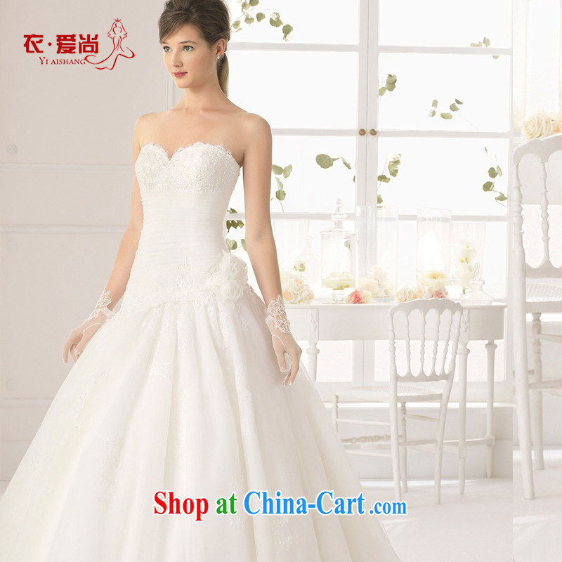 2015 spring and summer new marriage wedding dresses brides Europe video thin beauty small tail erase chest lace with white to make the $30 does not return