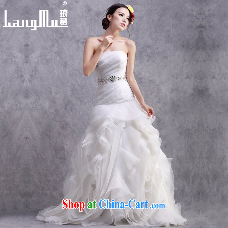 In Luang Prabang in 2015 of new Korean wiped chest bridal straps wedding dresses beauty graphics thin crowsfoot wedding custom white advanced customization