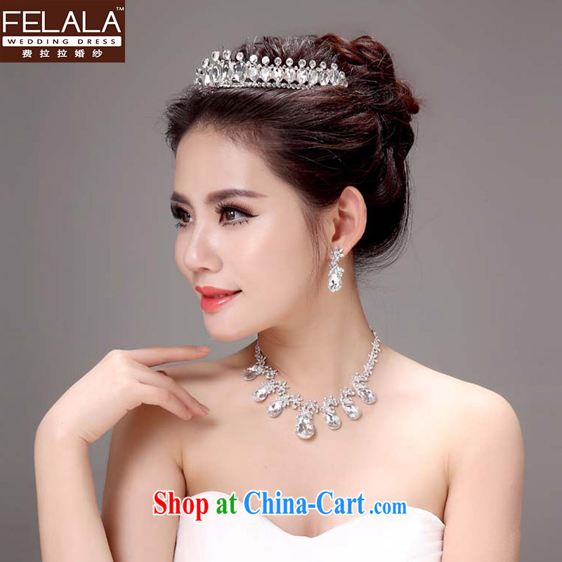 Ferrara Korean-style necklace earrings wedding head-dress 2015 bridal jewelry wedding jewelry wedding wedding accessories and ornaments