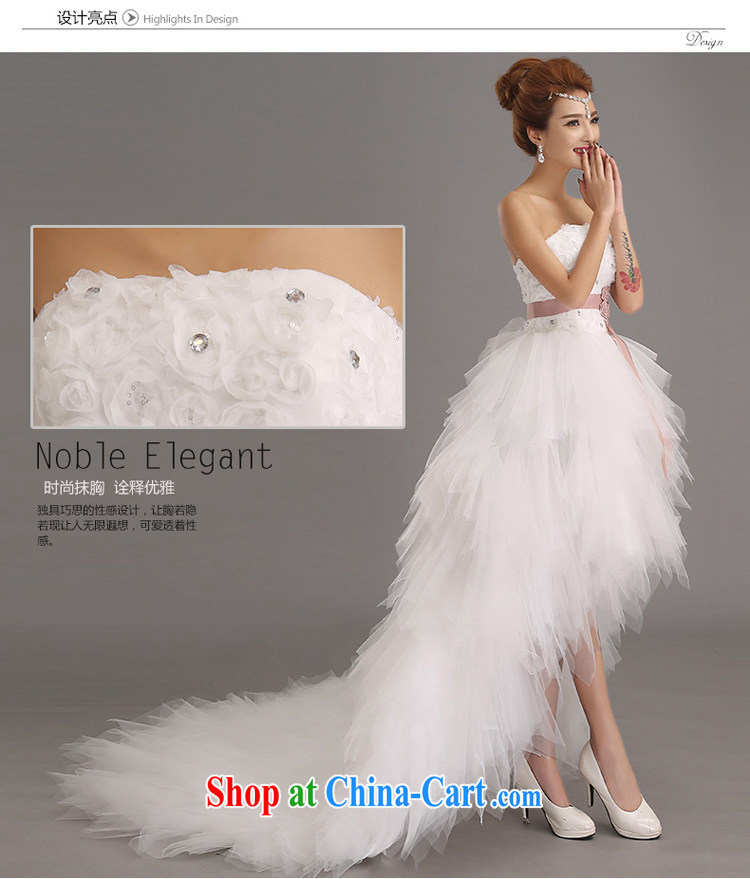 Pure Bamboo Love Yarn Upscale Luxury Short Before Long Tail Wedding Dresses New Bag Shoulder