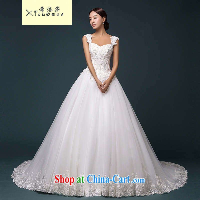 The Greek Cypriot, Mona Lisa _XILUOSHA_ Dual shoulder straps marriages wedding 2015 new luxury parquet drill bride high-end wedding dresses wedding custom white XL